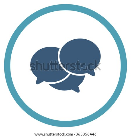 Webinar glyph icon. Style is bicolor flat circled symbol, cyan and blue colors, rounded angles, white background. - stock photo