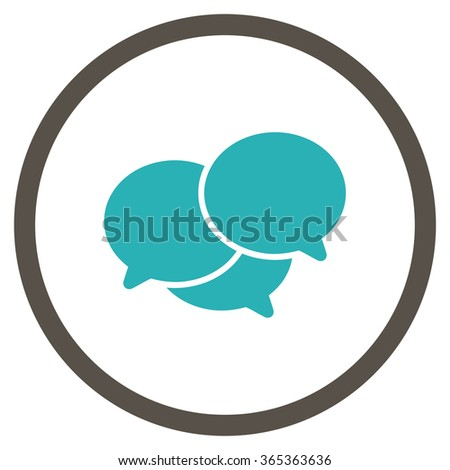 Webinar glyph icon. Style is bicolor flat circled symbol, grey and cyan colors, rounded angles, white background. - stock photo