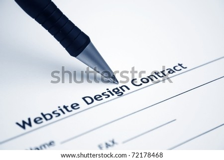 Website design contract