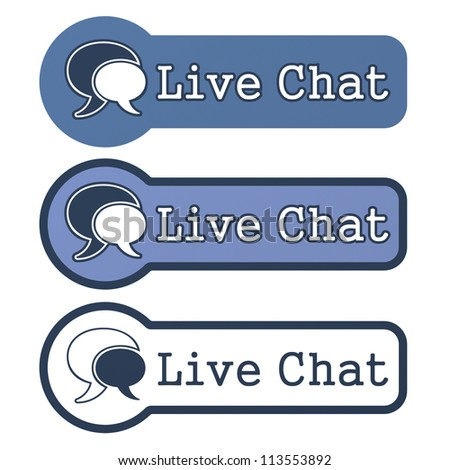 "Website Element: ""Live Chat"" on White Background."
