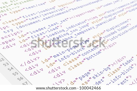 Website HTML code browser view on white background.