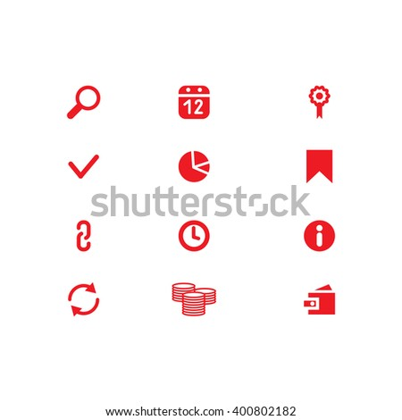 Website Icons. Universal Outline Icons For Web and Mobile. SEO Icons. Set web icons include: Search, purse, link, arrow, calendar, chain, bookmark; clock, check mark, money, flag - stock photo