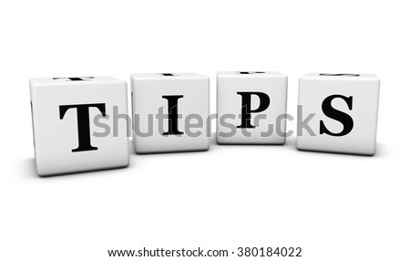 Website, Internet and blog concept with tips word and sign on cubes isolated on white background. - stock photo