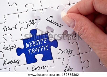 Website Traffic - stock photo
