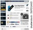 Website Web Design Elements Template - stock photo