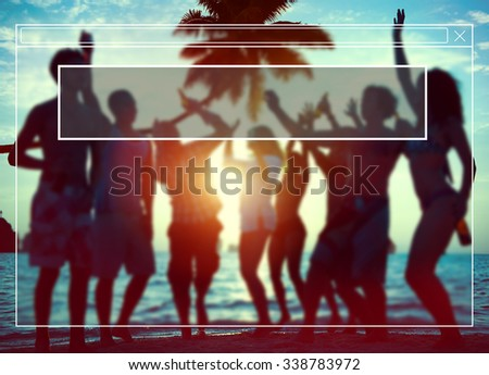 Website Webpage Silhouettes Diverse Multiethnic Concept - stock photo