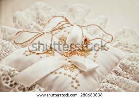 Wedding accessories. Bride. Ceremony