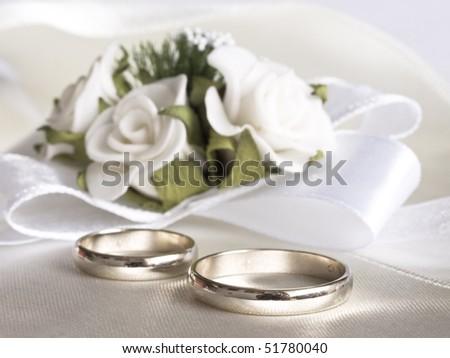 wedding arrangement - stock photo