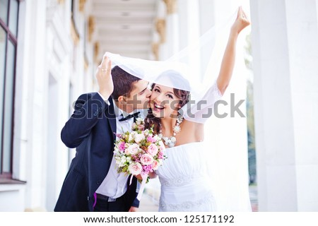 wedding at autumn - stock photo
