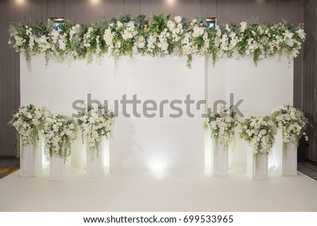Wedding backdrop flower wedding decoration stock photo edit now wedding backdrop flower wedding decoration stock photo edit now shutterstock junglespirit Image collections