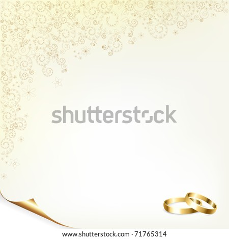 Wedding Background With Gold Rings - stock photo