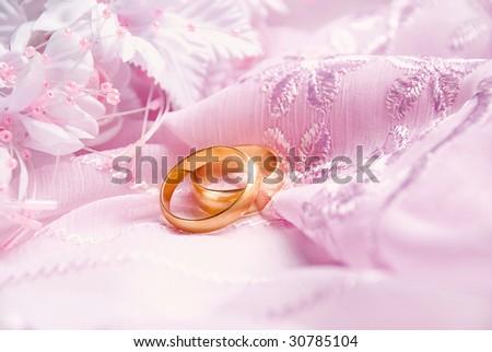 Wedding background pink decoration accessories artificial stock wedding background with pink decoration accessories and artificial golden rings junglespirit Image collections