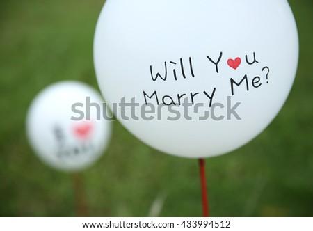 Wedding balloon   - stock photo