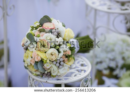 Wedding bouquet close-up - stock photo