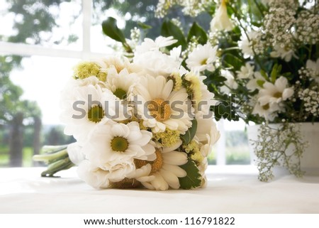 Wedding bouquet. Intentional romantic/dreamy effect processing - stock photo