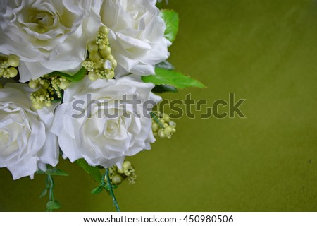 wedding bouquet of flowers on the floor - stock photo