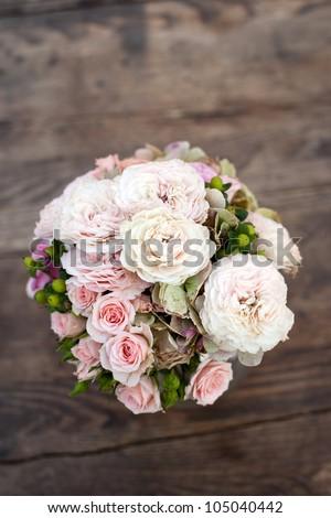 Wedding Bouquet of Peonies - stock photo