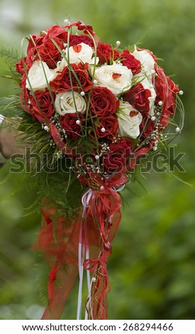Wedding bouquet   Rose heart  - stock photo