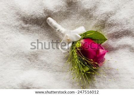 Wedding - Bouquet to Suit  - stock photo