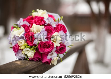 Wedding bouquet with background