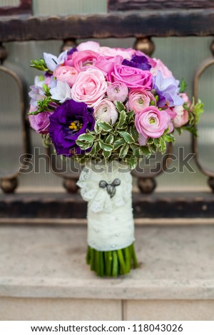 wedding bouquets - stock photo