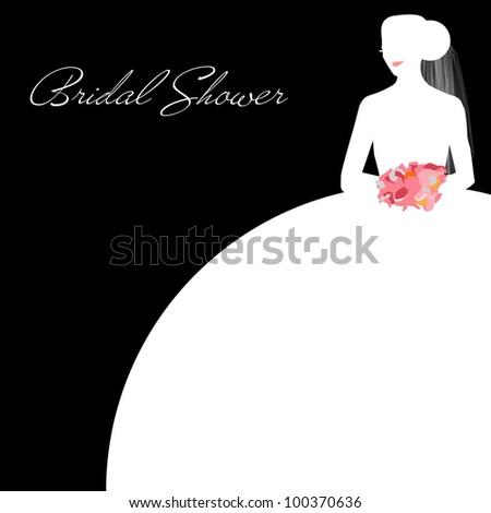 Wedding Bridal Shower Invitation Panel - Area for your text - stock photo