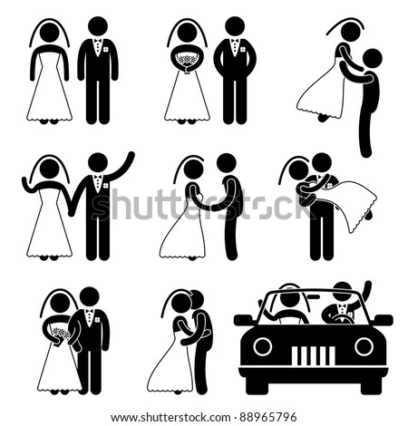 Wedding symbol  Wedding Bride Bridegroom Married Marry Marriage Stock Vector ...