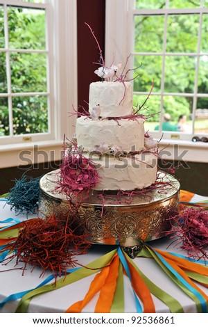 Wedding cake at a wedding - stock photo