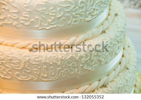 Wedding Cake Close-up - stock photo