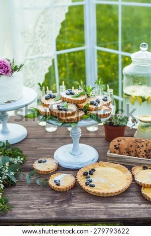wedding candy bar  - stock photo
