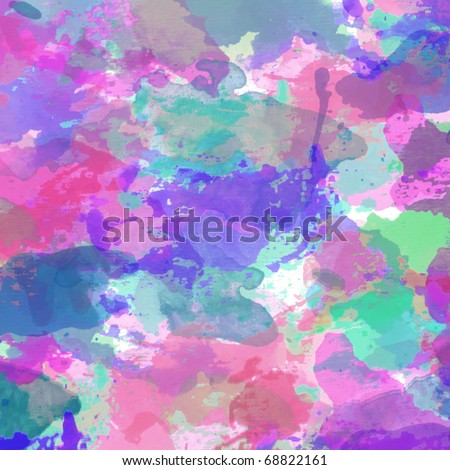 Wedding card or invitation with abstract floral background. Greeting card in grunge or retro style. Colorful congratulation christmas card. Design valentine cards - stock photo