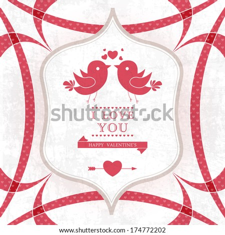 Wedding card or invitation with floral ornament background. Perfect as invitation or announcement. - stock photo