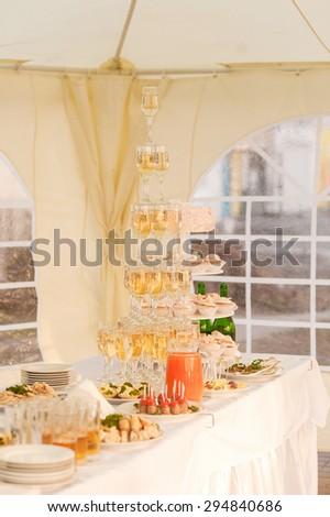 wedding catering - stock photo