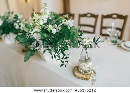 Wedding centerpiece ideas. - stock photo