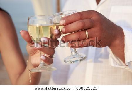 Wedding Ceremony Objects Signs Symbols Attributes Stock Photo