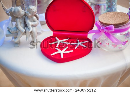 wedding ceremony on the beach beautiful  expensive decorations decor rings european style