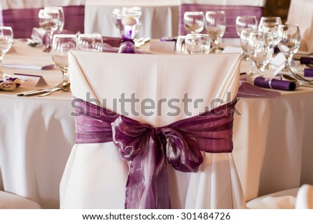Wedding chairs stock images royalty free images vectors wedding chairs with ribbon junglespirit Choice Image