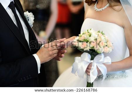 Wedding couple - stock photo