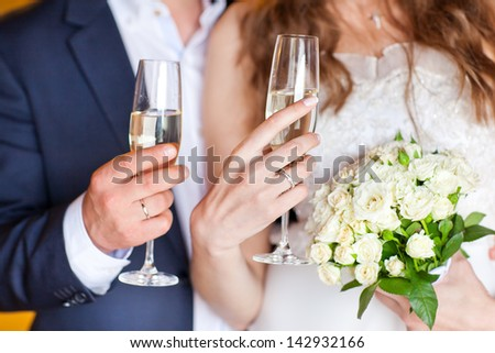 Wedding couple. The bride and groom. - stock photo