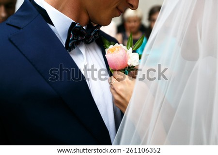 wedding day, love story - stock photo