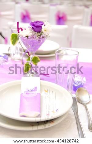 Wedding decoration - stock photo
