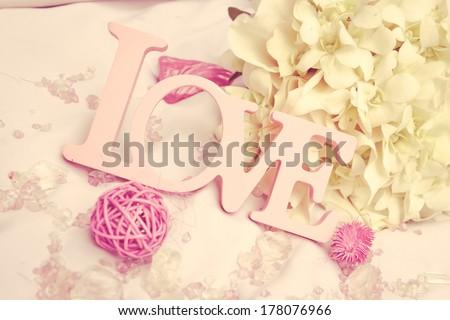 wedding decoration details - stock photo