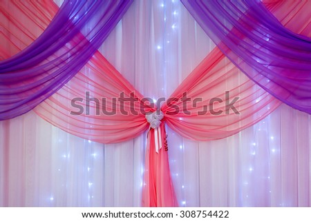 Wedding decorations in the hall for the ceremony. - stock photo