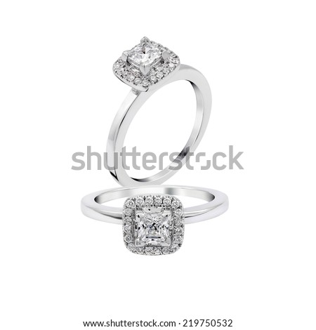 wedding diamond ring isolated