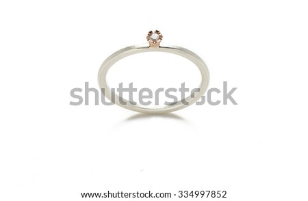 Wedding diamond ring isolated on white background