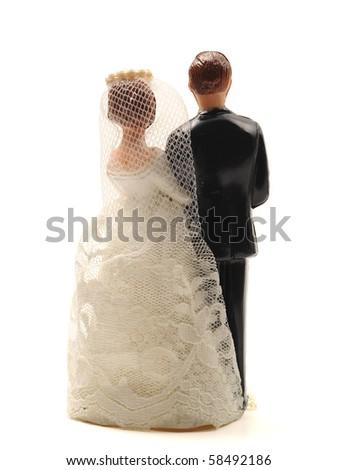 wedding doll rear side turn back secret - stock photo