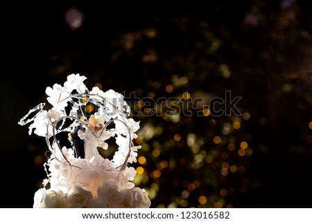 wedding dolls - stock photo