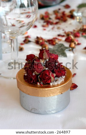 wedding favor box - stock photo