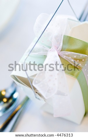 wedding favor giftbox - stock photo