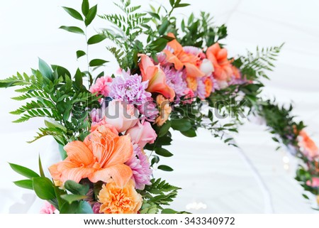 Wedding flower arc - stock photo